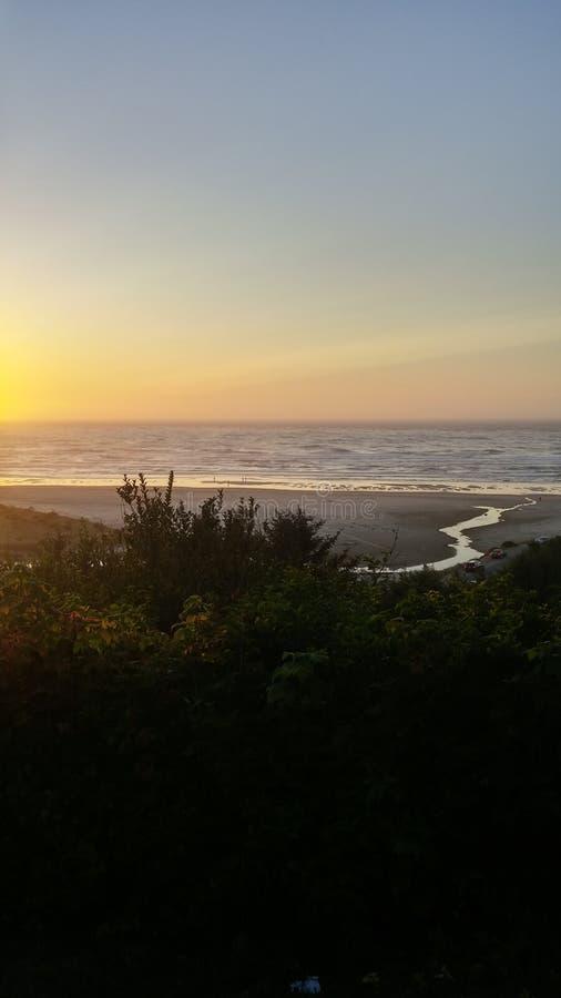 Het strandmening van Oregon royalty-vrije stock foto