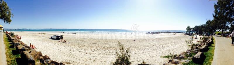 Het Strandpanorama van Queensland stock fotografie