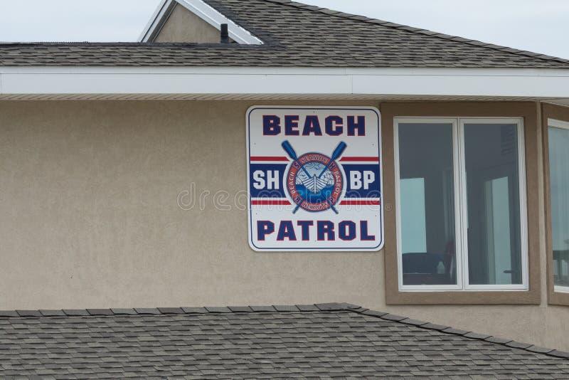 Het Strandpatrouille van kusthoogten stock foto