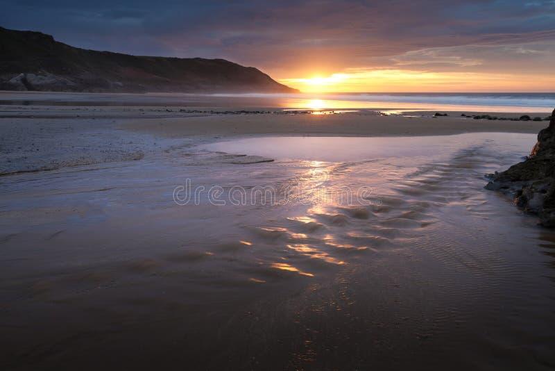 Het strandstroom van de Caswellbaai royalty-vrije stock afbeelding