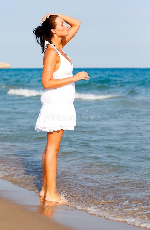 Het strandvakantie van de zuiverheid royalty-vrije stock foto