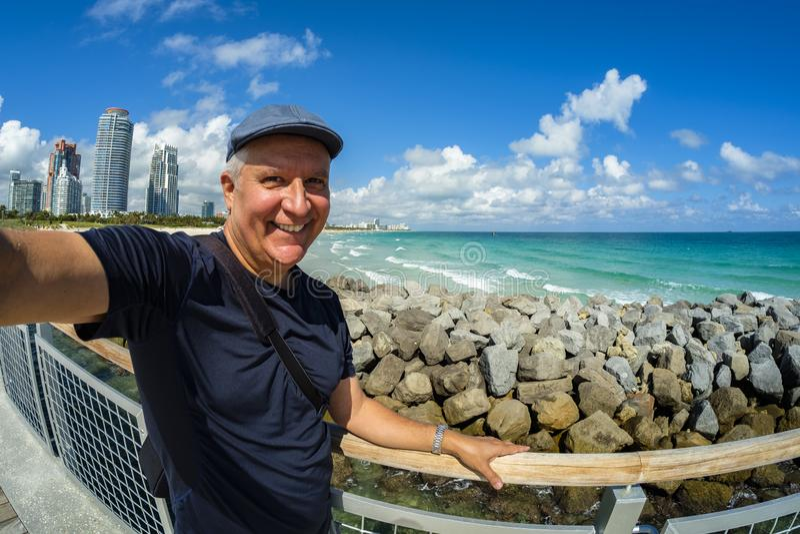 Het Strandvakantie van Miami royalty-vrije stock fotografie