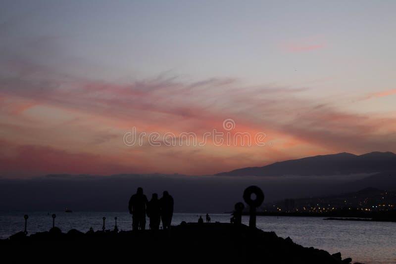 Het strandzonsondergang van Lasteresitas stock foto's