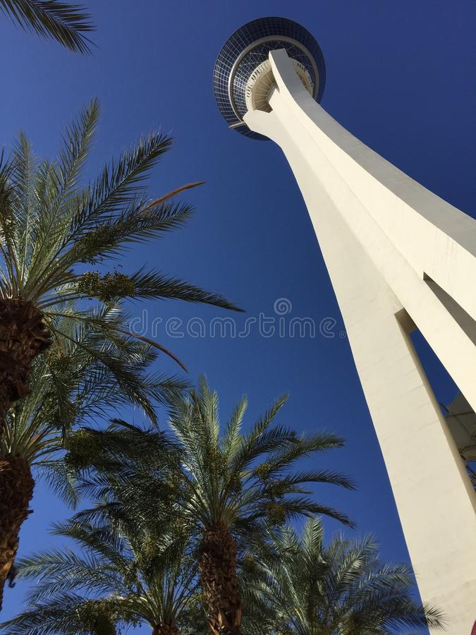 Het stratosfeerhotel in Las Vegas royalty-vrije stock foto