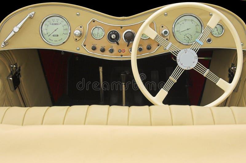 Het streepje van de sportwagen stock foto