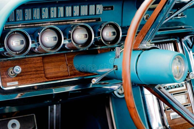 het streepje van jaren '60ford thunderbird royalty-vrije stock afbeeldingen