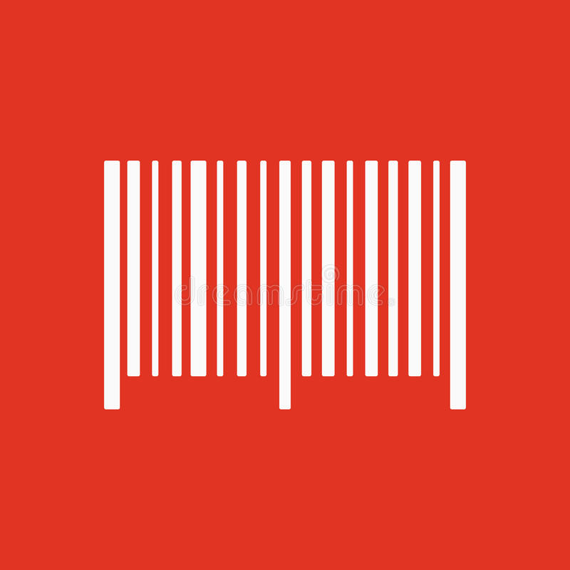 Het streepjescodepictogram Identificatie en identiteitskaart-symbool vlak royalty-vrije illustratie
