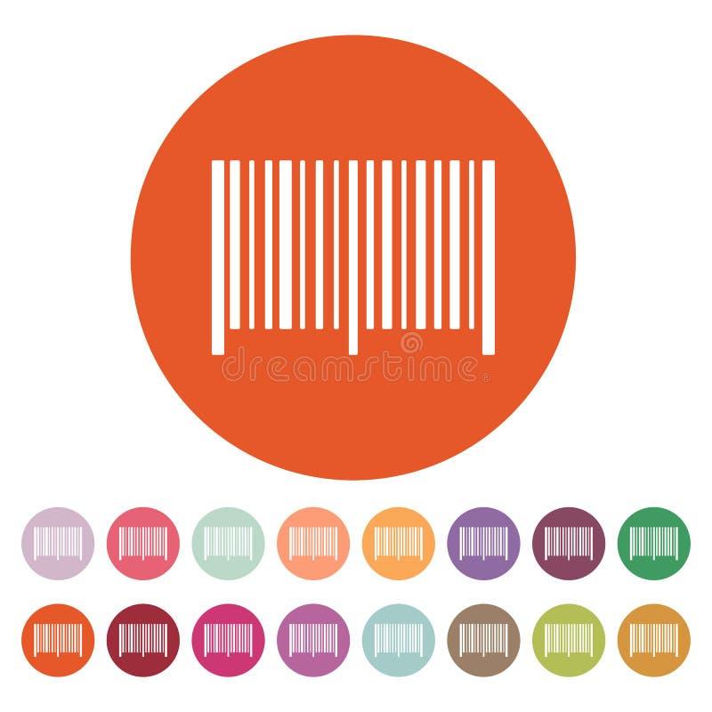 Het streepjescodepictogram Identificatie en identiteitskaart-symbool vlak vector illustratie