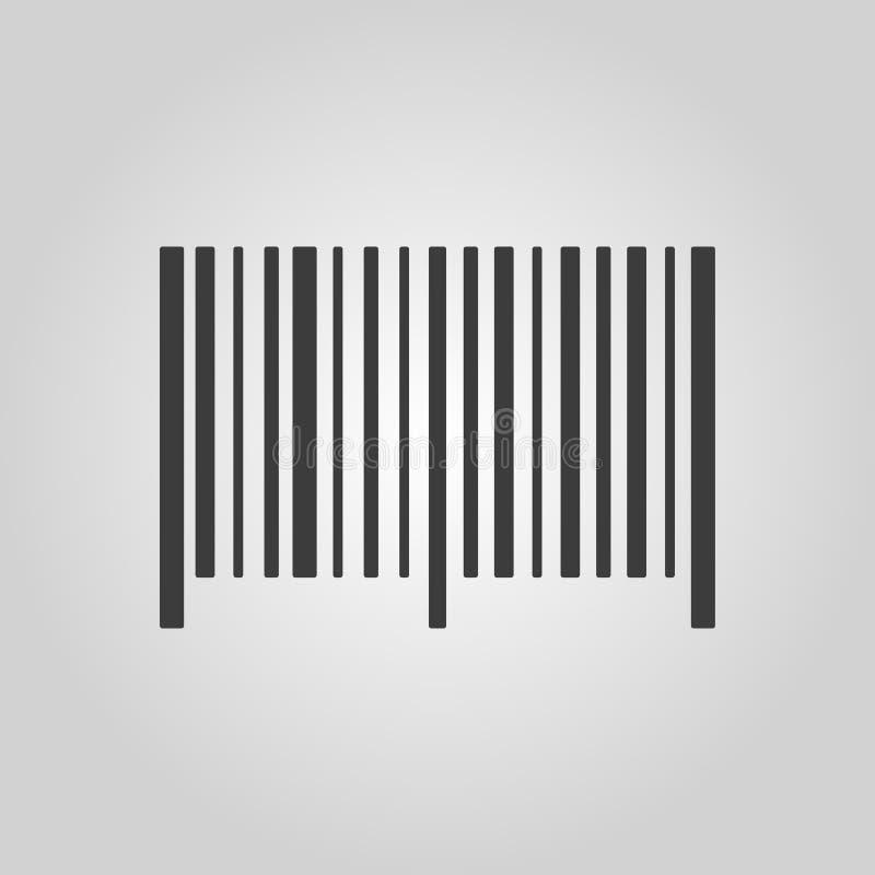 Het streepjescodepictogram Identificatie en identiteitskaart-symbool vlak stock illustratie