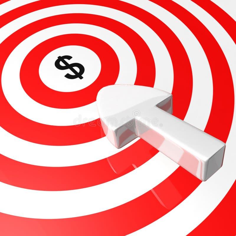 Het streven naar het geld royalty-vrije illustratie