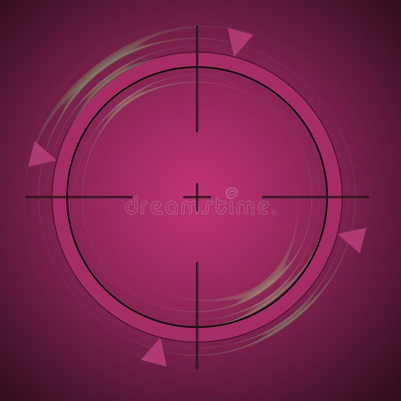 Het Streven van Crosshair vector illustratie