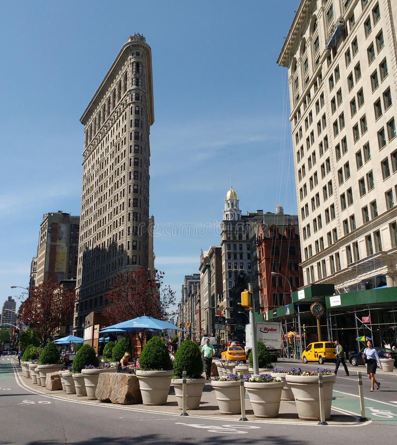 Het Strijkijzergebouw in de Stad van New York, de V.S. royalty-vrije stock afbeelding