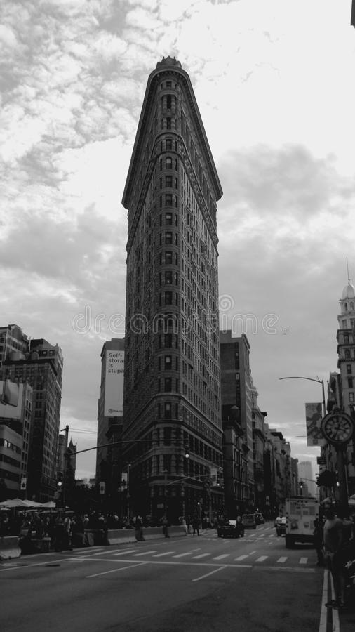 Het strijkijzergebouw in NYC stock fotografie
