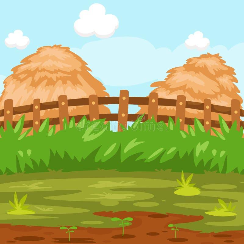 Het stro van het landschap vector illustratie