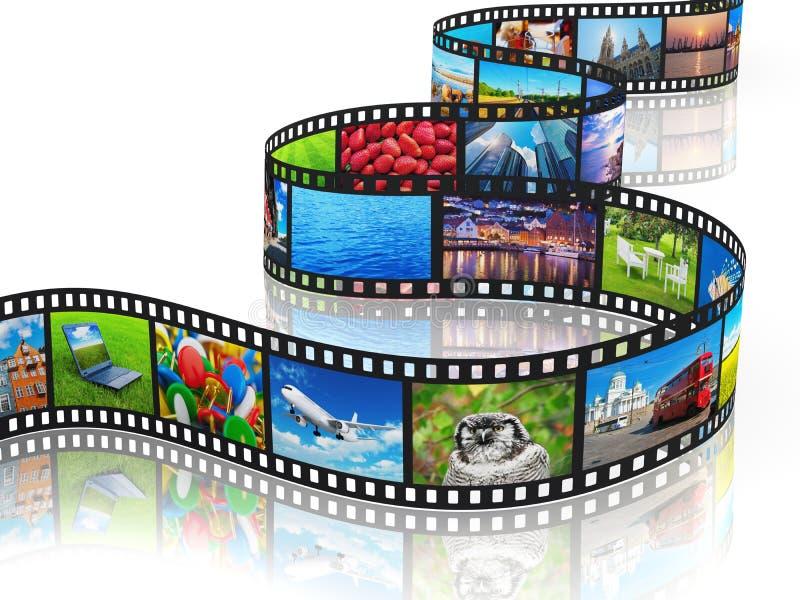 Het stromen media concept royalty-vrije illustratie