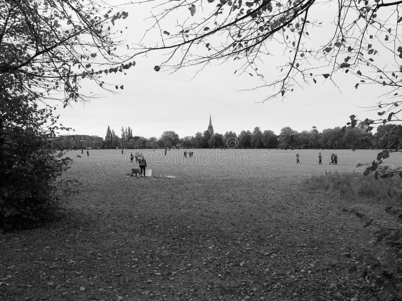 Het Stuk openbaar park van Parker in zwart-wit stock foto's
