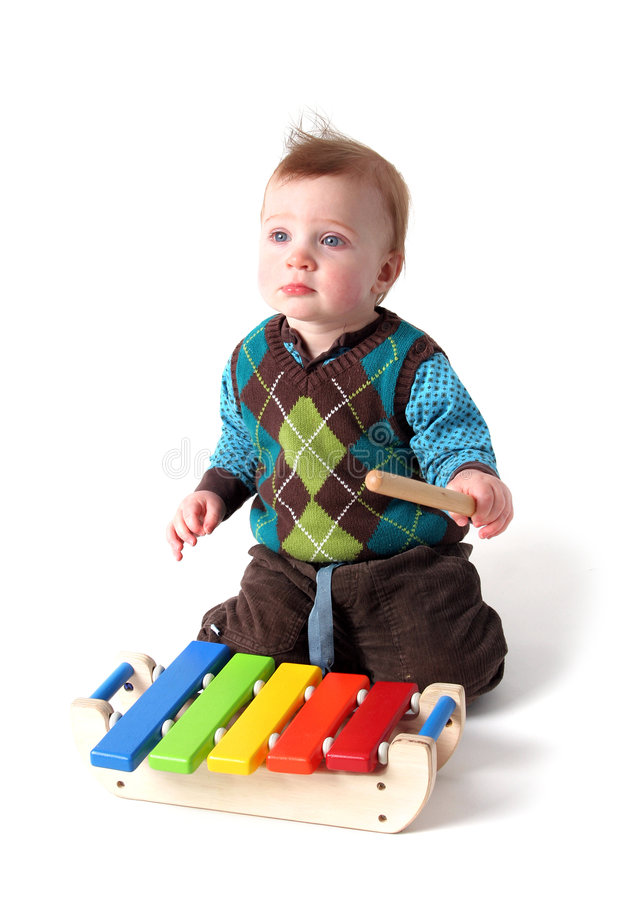 Het stuk speelgoed van de baby muziek royalty-vrije stock foto's