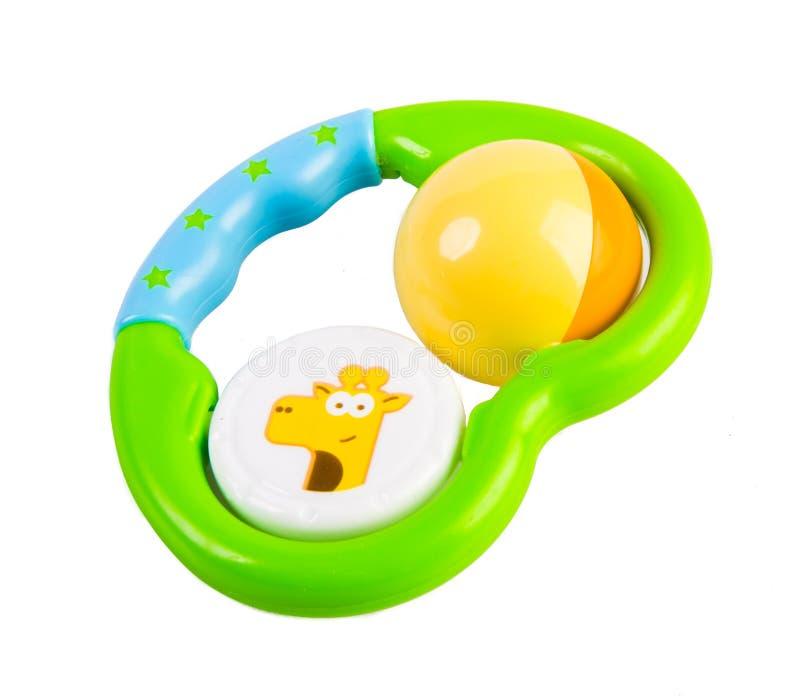 Het stuk speelgoed van de baby op wit royalty-vrije stock foto's