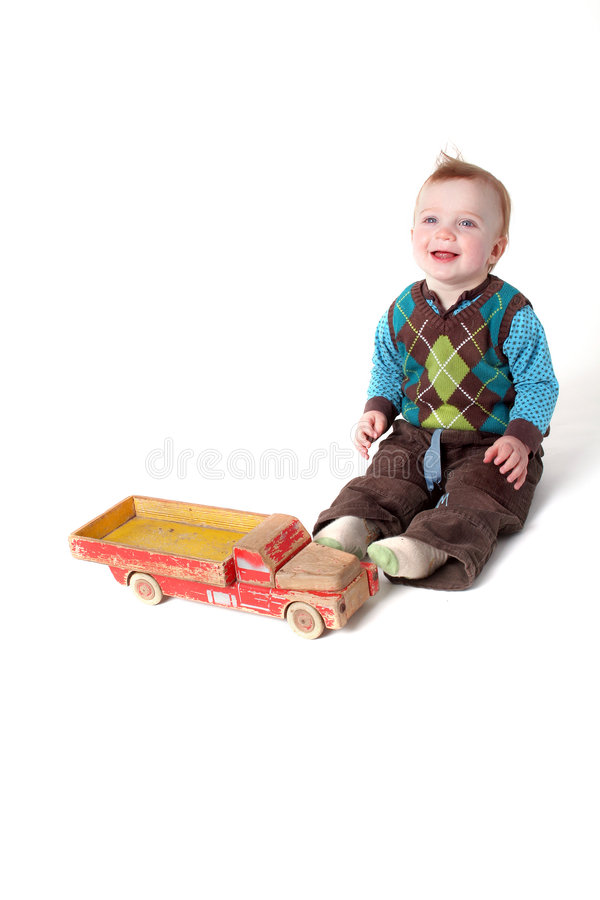 Het stuk speelgoed van de baby vrachtwagen royalty-vrije stock fotografie