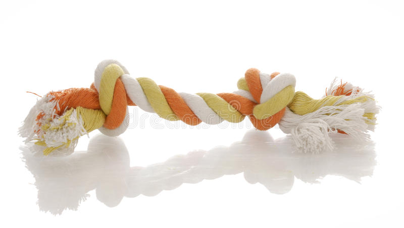 Het stuk speelgoed van de de sleepbootkabel van de hond stock afbeelding