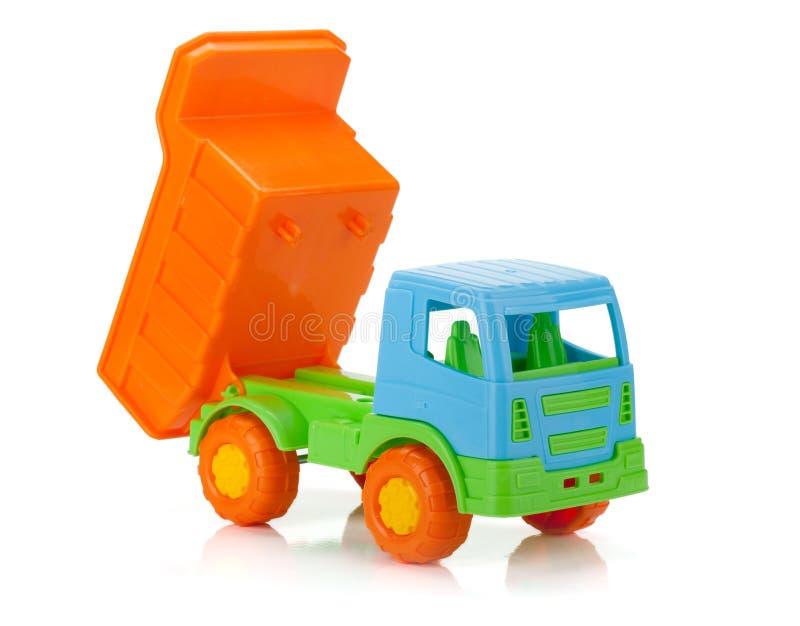 Het stuk speelgoed van de kleur auto stock foto's