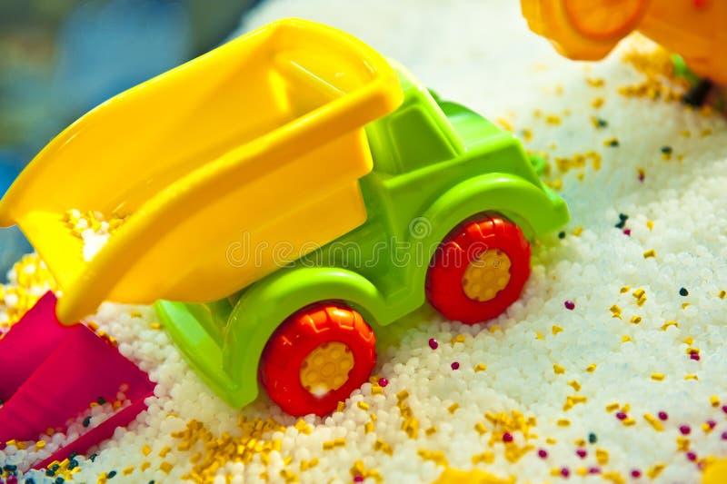 Het stuk speelgoed van de kleur auto royalty-vrije stock foto's