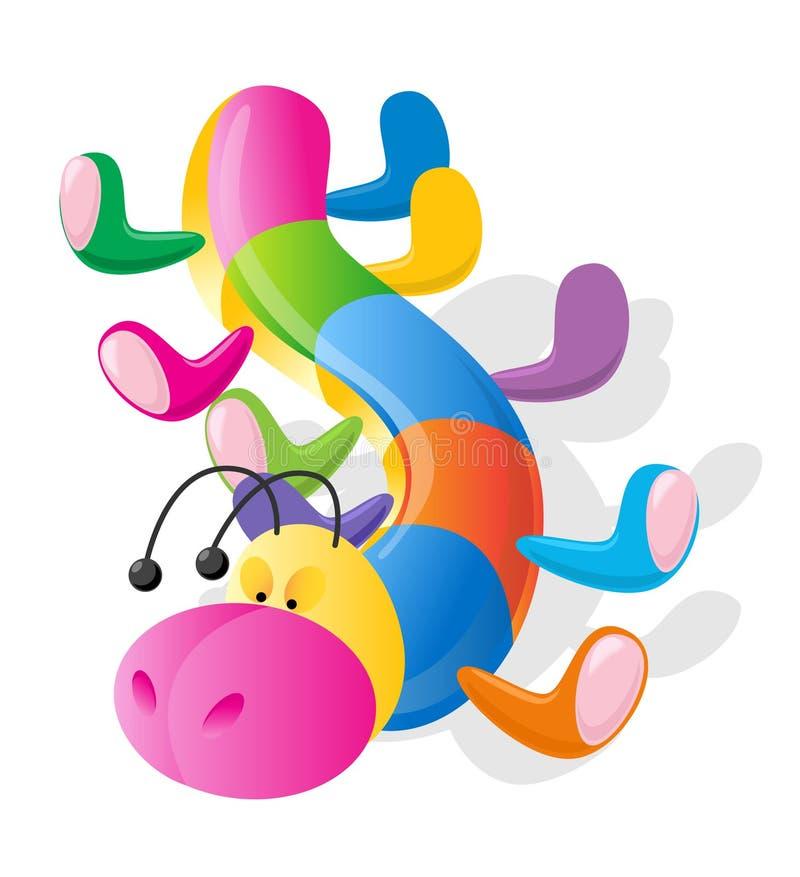 Het stuk speelgoed van de rupsband stock illustratie