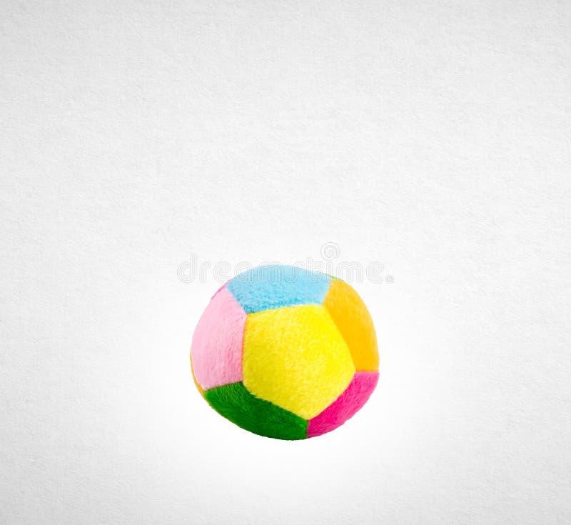 Het stuk speelgoed van de stoffenbal voor baby het leren stock afbeelding
