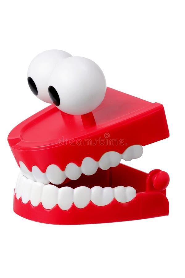 Het Stuk speelgoed van de Tanden van Chattering stock foto's