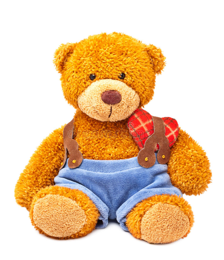 Het stuk speelgoed van de teddybeer stock fotografie
