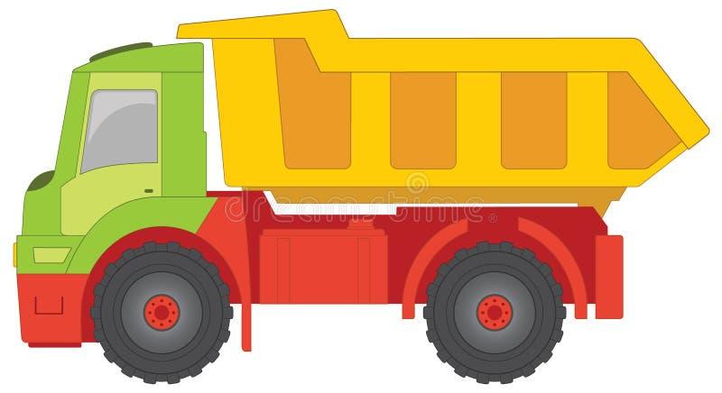 Het stuk speelgoed van de vrachtwagen royalty-vrije illustratie