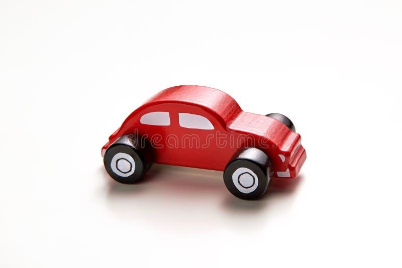 Het stuk speelgoed van het jonge geitje `s De auto van het eigengemaakte houten jonge geitje royalty-vrije stock afbeelding