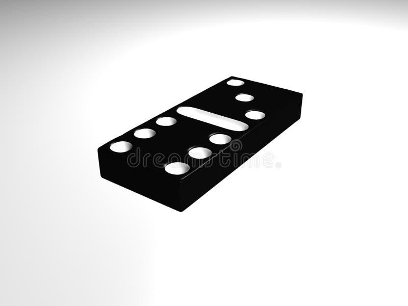 Het stuk van de domino royalty-vrije illustratie