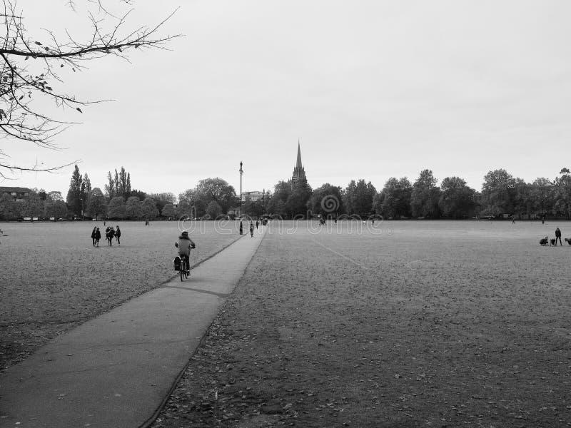 Het Stukpark van Parker in Cambridge in zwart-wit royalty-vrije stock fotografie