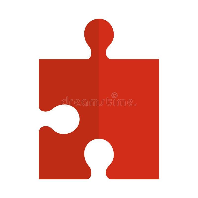 Het stukpictogram van het raadselspel stock illustratie