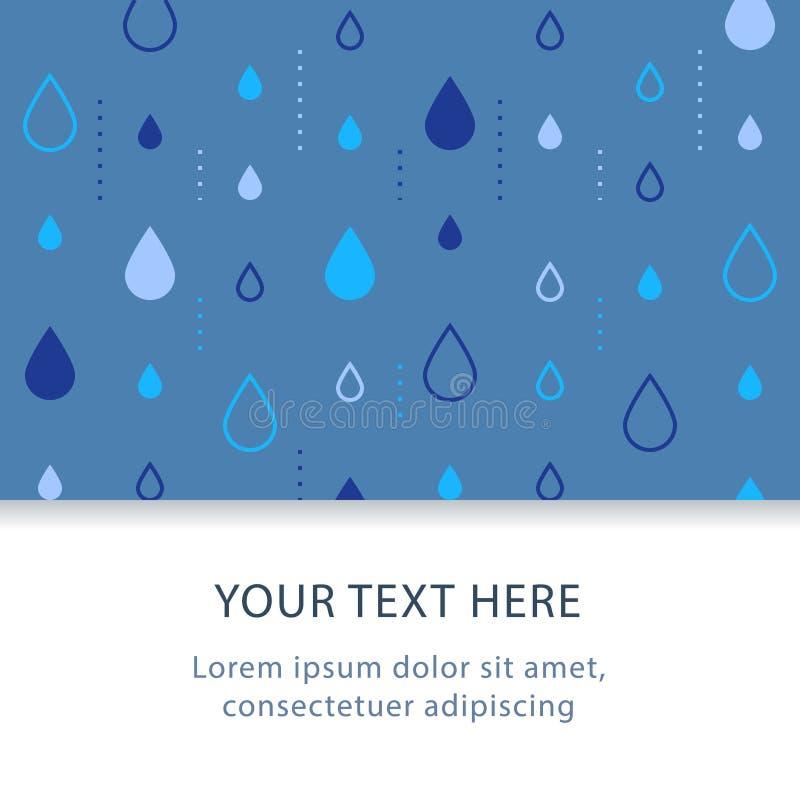 Het subtiele patroon, grafisch ontwerp, abstracte achtergrond met regen daalt, decoratiekopbal, creatieve achtergrond stock illustratie