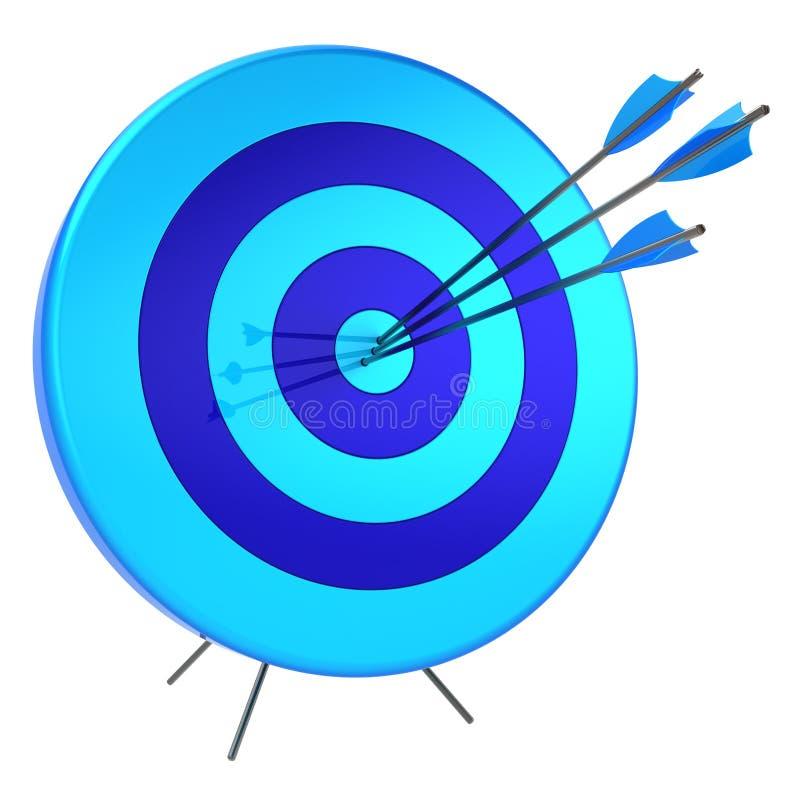 Het succes die van doelpijlen nauwkeurigheidssluipschutter schieten die concept raken royalty-vrije illustratie