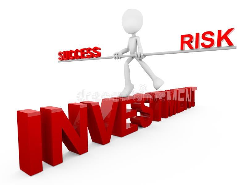 Het Succes en het Risico van de investering stock illustratie