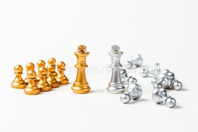Het succes en ontbreekt Leider royalty-vrije stock afbeelding
