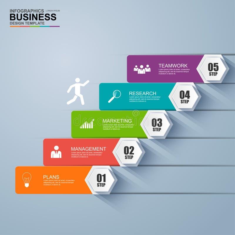 Het succes Infographics van de bedrijfstredestap royalty-vrije illustratie