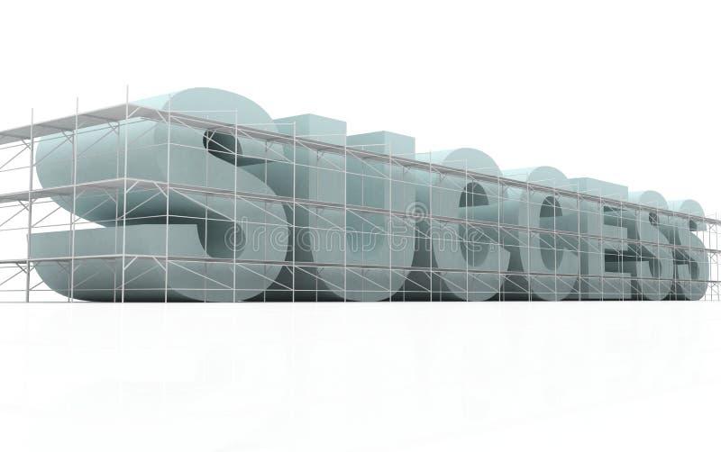 Het succes van de bouw stock illustratie