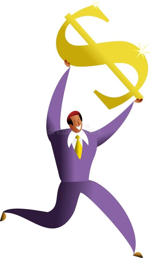 Het succes van de dollar royalty-vrije illustratie