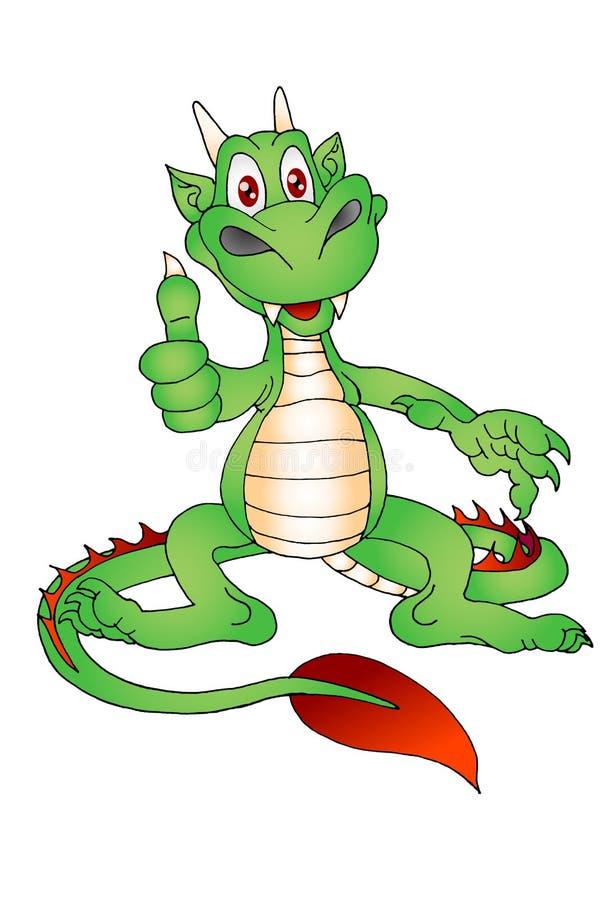 Het succes van de draak royalty-vrije illustratie