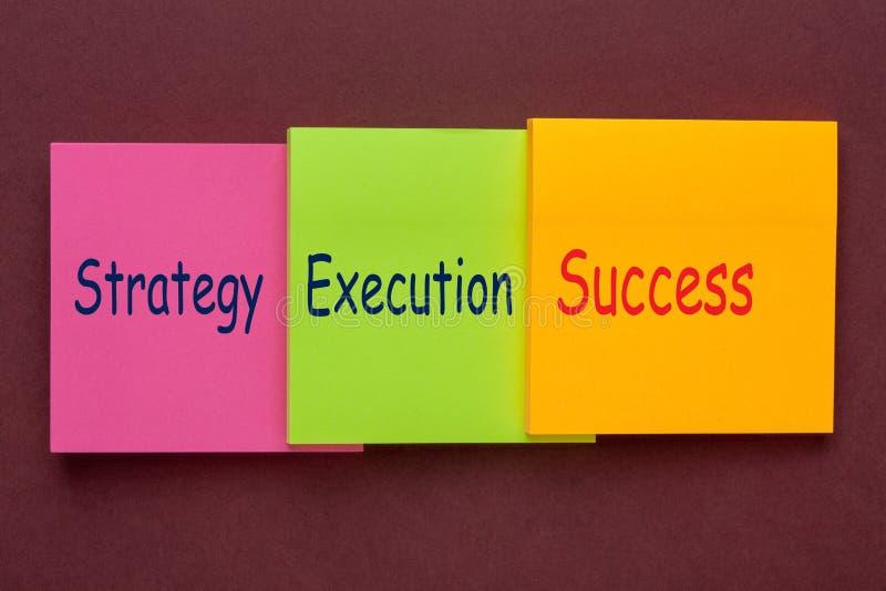 Het Succes van de strategieuitvoering royalty-vrije stock afbeelding