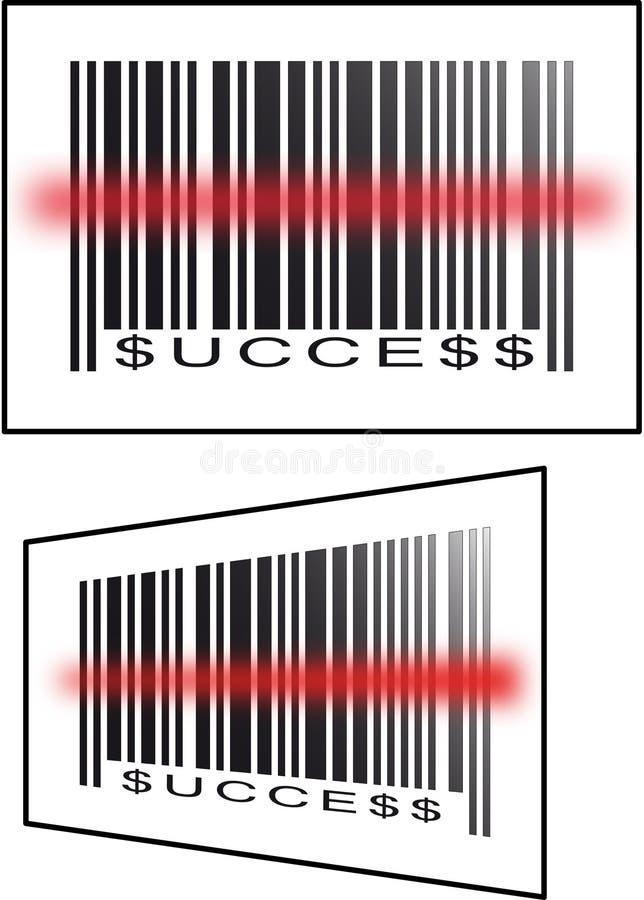 Het succes van de streepjescode royalty-vrije illustratie
