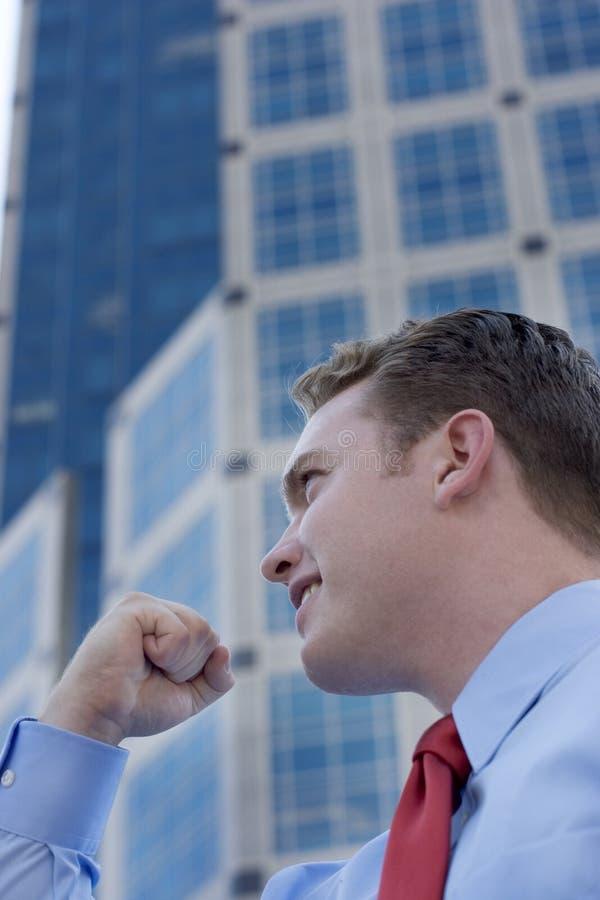 Het Succes van de zakenman stock fotografie