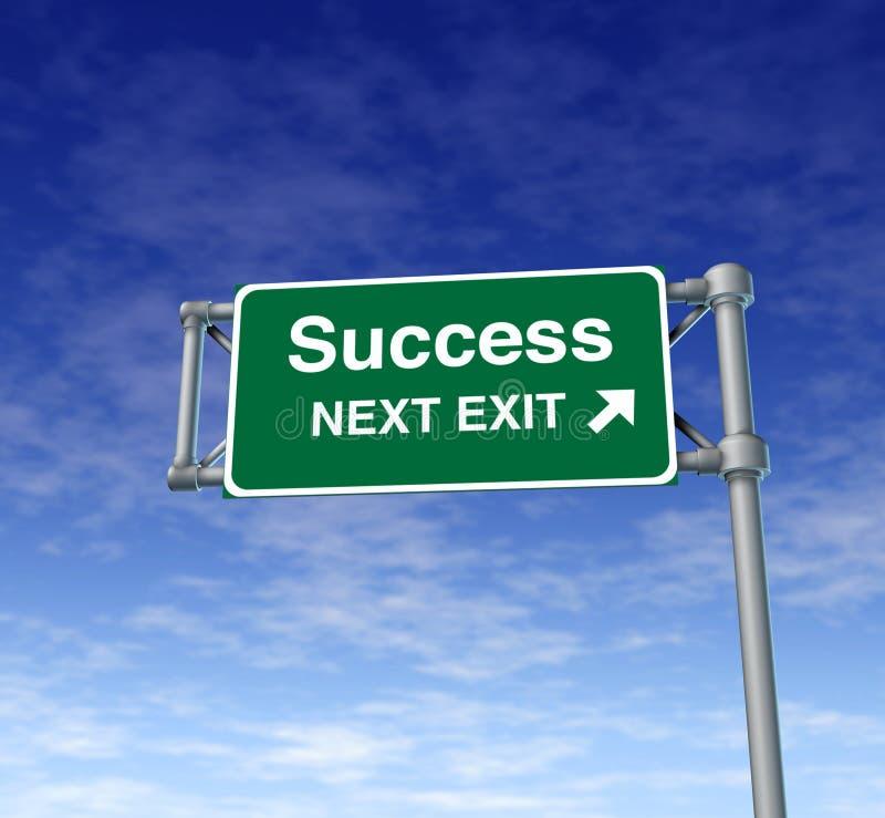 Het succes wint symbo van de de wegstraat van het Teken van de Uitgang van de Snelweg stock afbeelding