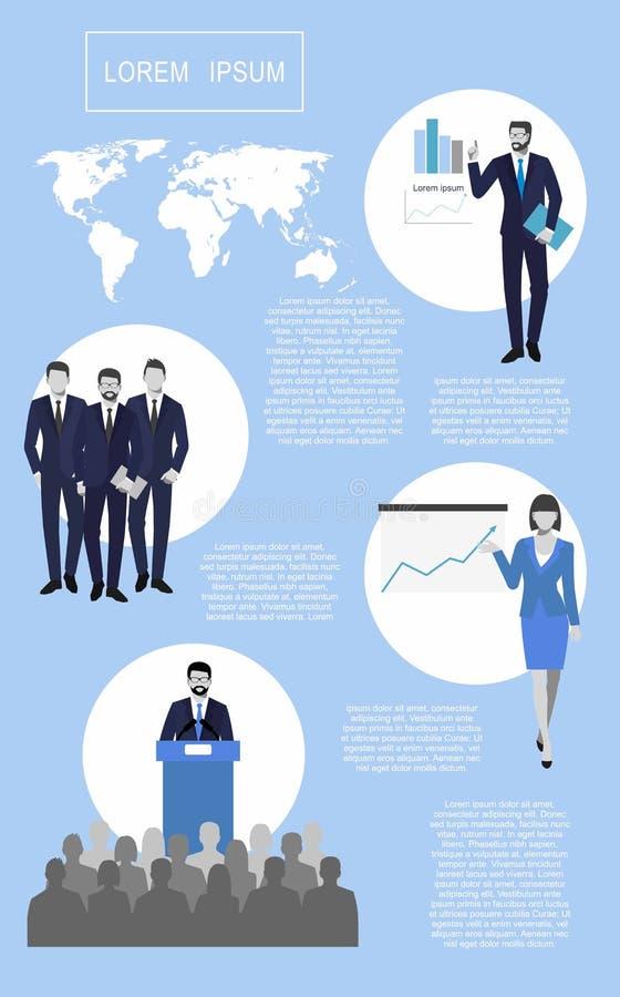 het succes in zaken, concept is iets De financiële elementen van het grafiekenthema royalty-vrije illustratie