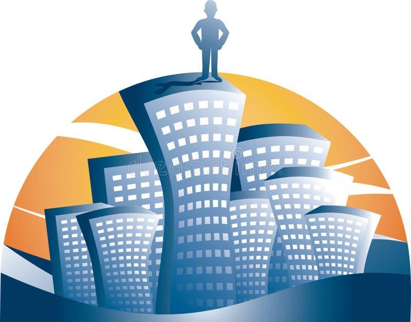 Het succesmens van de stad vector illustratie
