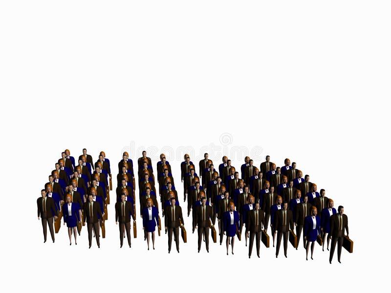 Het succesteam. vector illustratie